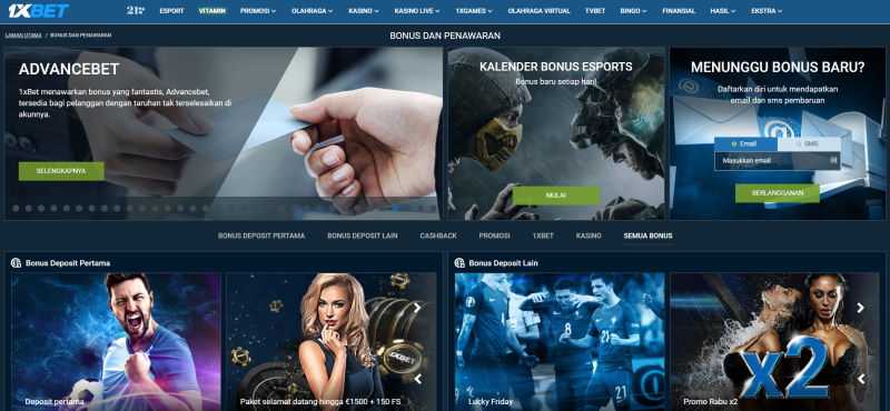1xbet Online Sports Betting bonus dan promosi