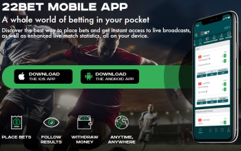 Mobile betting is easy with the mobile apps from 22bet