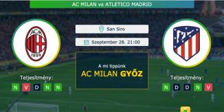 AC Milan – Atletico Madrid 28.09.2021 Tippek Bajnokok Ligája