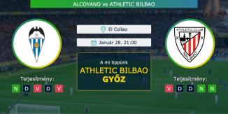 Alcoyano – Athletic Bilbao 28.01.2021 Tippek Copa del Rey