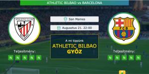 Athletic Bilbao – Barcelona 21.08.2021 Tippek La Liga