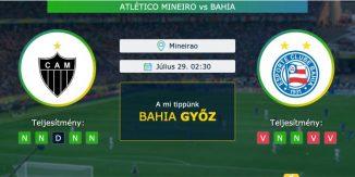 Atlético Mineiro – Bahia 29.07.2021 Tippek Brazil-kupa