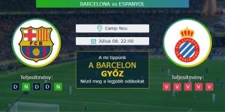 Barcelona - Espanyol 08.07.2020 Tippek LaLiga