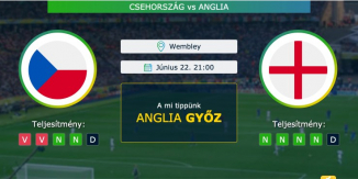 Csehország – Anglia 22.06.2021 Tippek Európa-bajnokság