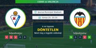 Eibar - Valencia 25.06.2020 Tippek La Liga