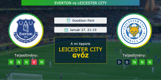 Everton – Leicester City 27.01.2021 Tippek Premier League