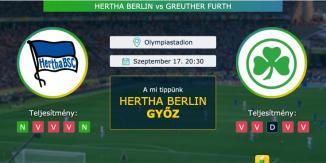 Hertha Berlin – Greuther Furth 17.09.2021 Tippek Bundesliga