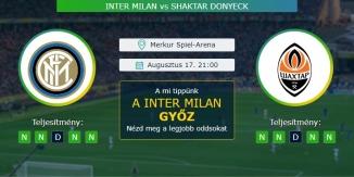 Inter Milan - Shaktar Donyeck 17.08.2020 Tippek Európa Liga