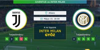 Juventus – Inter Milan 15.05.2021 Tippek Serie A