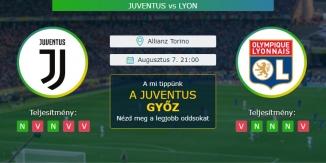 Juventus - Lyon 07.08.2020 Tippek Bajnokok Ligája