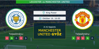 Leicester – Manchester United 16.10.2021 Tippek Premier League