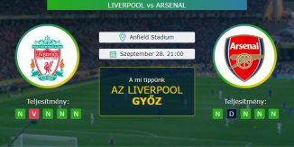 Liverpool - Arsenal 28.09.2020 Tippek Premier League