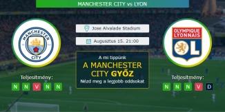 Manchester City - Lyon 15.08.2020 Tippek Bajnokok Ligája
