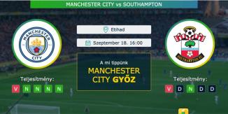 Manchester City – Southampton 18.09.2021 Tippek Premier League