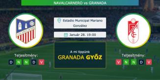 Navalcarnero – Granada 28.01.2021 Tippek Copa del Rey