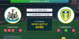 Newcastle – Leeds 17.09.2021 Tippek Premier League