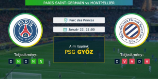 Paris Saint-Germain – Montpellier 22.01.2021 Tippek Ligue 1