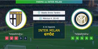 Parma – Inter Milan 04.03.2021 Tippek Serie A