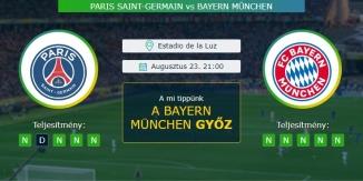 PSG - Bayern München 23.08.2020 Tippek Bajnokok Ligája