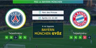 PSG – Bayern München 13.04.2021 Tippek Bajnokok Ligája