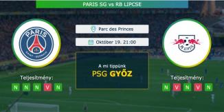 Paris SG – Rb Lipcse 19.10.2021 Tippek Bajnokok Ligája