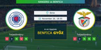 Rangers – Benfica 26.11.2020 Tippek Európa Liga