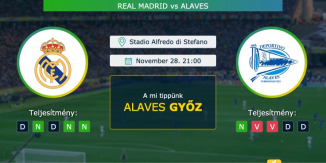 Real Madrid – Alaves 28.11.2020 Tippek La Liga