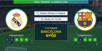 Real Madrid – Barcelona 10.04.2021 Tippek La Liga
