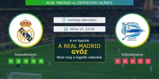 Real Madrid - Deportivo Alaves 10.07.2020 Tippek LaLiga