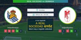 Real Sociedad- Granada 10.07.2020 Tippek LaLiga
