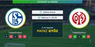 Schalke - Mainz 05.03.2021 Tippek Bundesliga