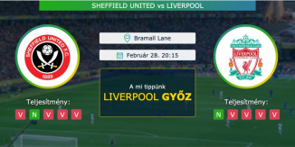 Sheffield United – Liverpool 28.02.2021 Tippek Premier League