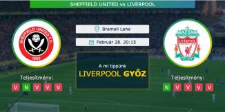 Sheffield United – Liverpool 28.02.2021 Tippek Premier League