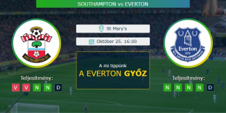 Southampton - Everton 25.10.2020 Tippek Premier League
