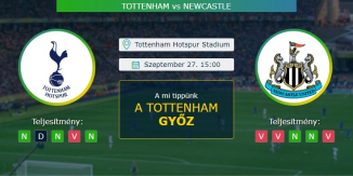 Tottenham - Newcastle 27.09.2020 Tippek Premier League
