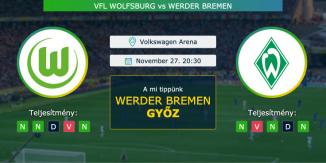 Vfl Wolfsburg – Werder Bremen 27.11.2020 Tippek Bundesliga