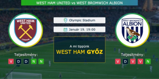 West Ham United – West Bromwich Albion 19.01.2021 Tippek Premier League